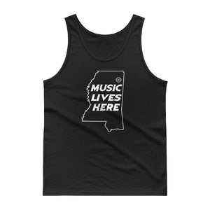 "Mississippi ""MUSIC LIVES HERE"" Men's Tank Top"