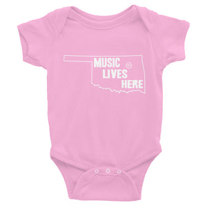 "Oklahoma ""MUSIC LIVES HERE"" Baby Onesie"