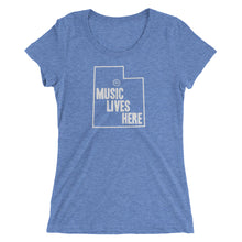 "Utah ""MUSIC LIVES HERE"" Women's Triblend T-Shirt"