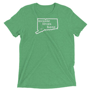 "Connecticut ""MUSIC LIVES HERE"" Men's Triblend T-Shirt"