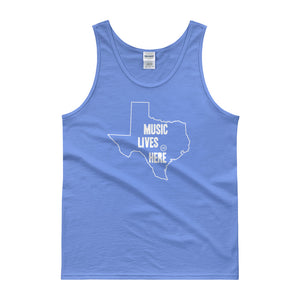 "Texas ""MUSIC LIVES HERE"" Men's Tank Top"