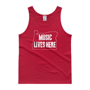 "Oregon ""MUSIC LIVES HERE"" Men's Tank Top"