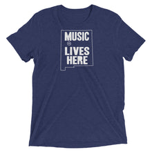 "New Mexico ""MUSIC LIVES HERE"" Men's Triblend T-Shirt"