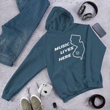"New Jersey ""MUSIC LIVES HERE"" Men's Hooded Sweatshirt"