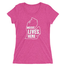 "Michigan ""MUSIC LIVES HERE"" Women's Triblend T-Shirt"