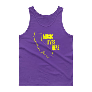"Los Angeles ""MUSIC LIVES HERE"" Men's Tank Top"