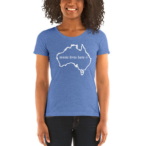 "Australia ""MUSIC LIVES HERE"" Women's Triblend T-Shirt"