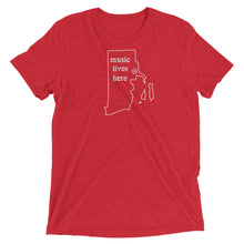 "Rhode Island ""MUSIC LIVES HERE"" Men's Triblend T-Shirt"