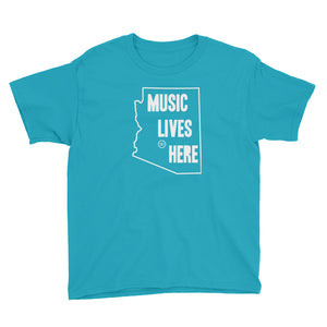 "Arizona ""MUSIC LIVES HERE"" Youth Short Sleeve T-Shirt"