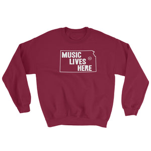 "Kansas ""MUSIC LIVES HERE"" Sweatshirt"