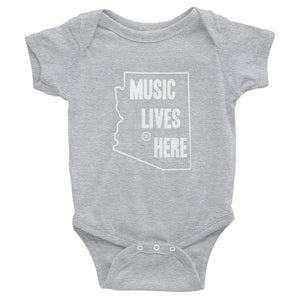 "Arizona ""MUSIC LIVES HERE"" Baby Onesie"