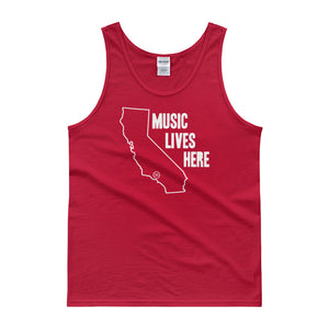 "California ""MUSIC LIVES HERE"" Men's Tank top"