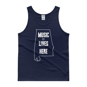 "Alabama ""MUSIC LIVES HERE"" Men's Tank top"