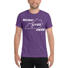 "Kentucky ""MUSIC LIVES HERE"" Men's Triblend T-Shirt"