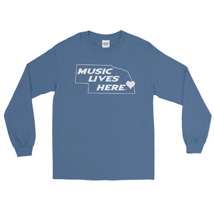 "Nebraska Heart ""MUSIC LIVES HERE"" Long Sleeve Shirt"