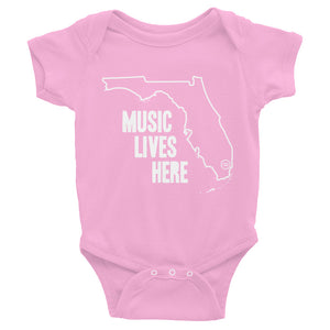 "Florida ""MUSIC LIVES HERE"" Baby Onesie"