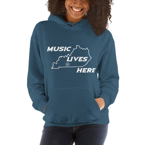 "Kentucky ""MUSIC LIVES HERE"" Men's Hooded Sweatshirt"