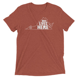 "Virginia ""MUSIC LIVES HERE"" Men's Triblend Tshirt"