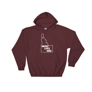 "Idaho ""MUSIC LIVES HERE"" Hooded Sweatshirt"