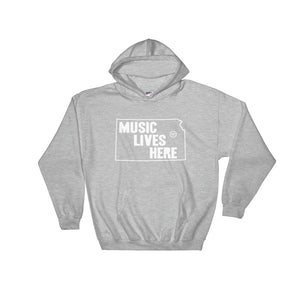 "Kansas ""MUSIC LIVES HERE"" Hooded Sweatshirt"