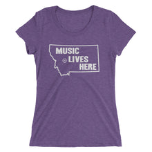 "Montana ""MUSIC LIVES HERE"" Women's Triblend Tshirt"