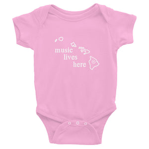 "Hawaii ""MUSIC LIVES HERE"" Baby Onesie"