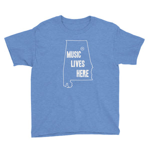 "Alabama - Gadsden ""MUSIC LIVES HERE"" Youth Short Sleeve T-Shirt"