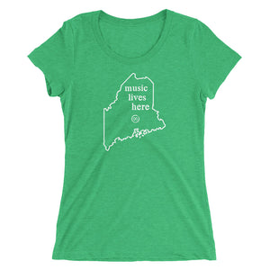 "Maine ""MUSIC LIVES HERE"" Women's Triblend T-Shirt"