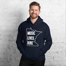 "Minnesota ""MUSIC LIVES HERE"" Hooded Sweatshirt"