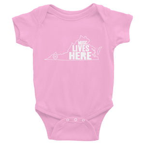 "Virginia ""MUSIC LIVES HERE"" Baby Onesie"