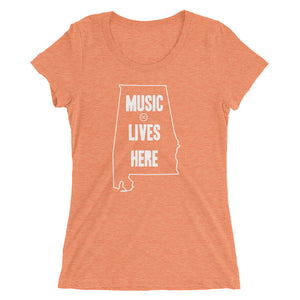 "Alabama ""MUSIC LIVES HERE"" Women's Triblend T-shirt"