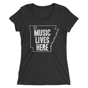 "Arkansas ""MUSIC LIVES HERE"" Women's Triblend Tshirt"