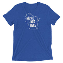 "Wisconsin ""MUSIC LIVES HERE"" Men's Triblend T-Shirt"