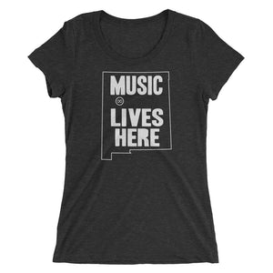 "New Mexico ""MUSIC LIVES HERE"" Women's Triblend T-Shirt"