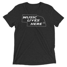 "Nebraska ""MUSIC LIVES HERE"" Men's Triblend T-Shirt"