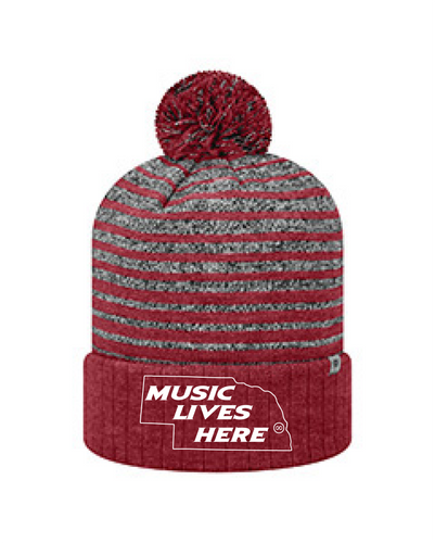"Nebraska ""Music Lives Here"" TOW Stocking Hat"