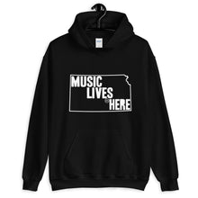 "Kansas (Wichita) ""MUSIC LIVES HERE"" Hooded Sweatshirt"