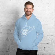 "West Virginia (Clarksburg) ""MUSIC LIVES HERE"" Unisex Hoodie"