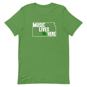 "Kansas (Wichita) Irish ""MUSIC LIVES HERE"" T-Shirt"