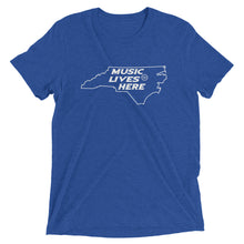 "North Carolina ""MUSIC LIVES HERE"" Men's Triblend T-Shirt"