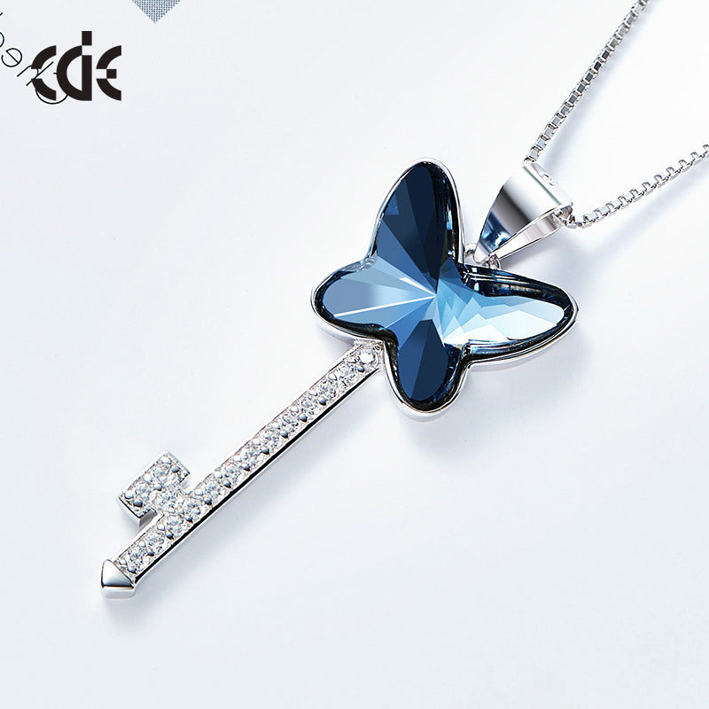swarovski butterfly pendant necklace