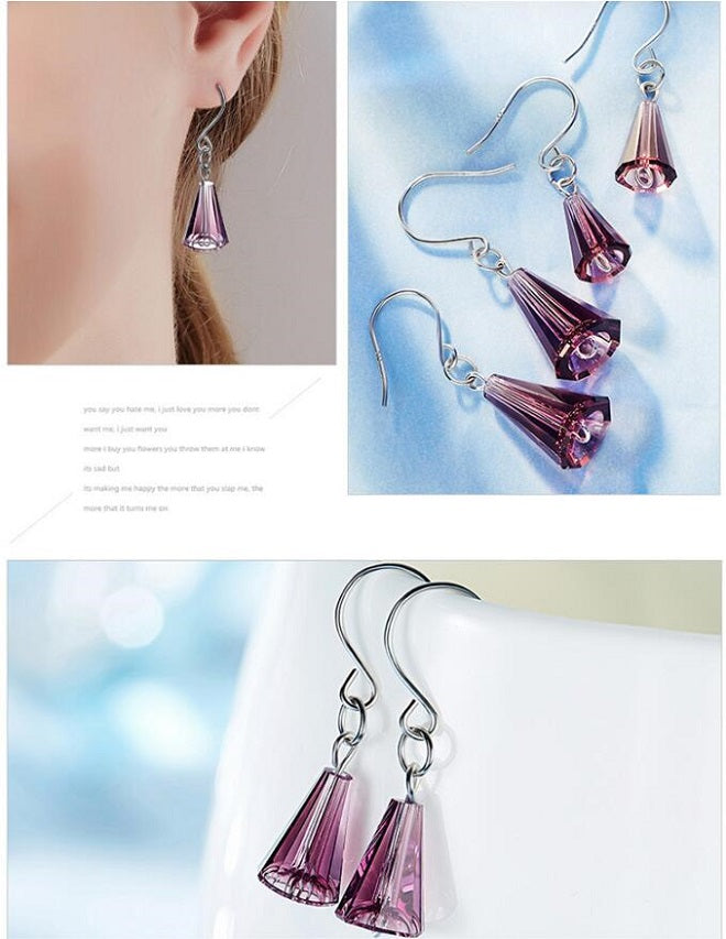 purple earrings cheap
