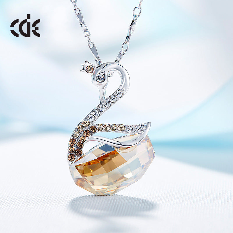 swarovski necklace swan