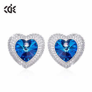 swarovski blue stud earrings