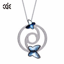 butterfly necklace blue