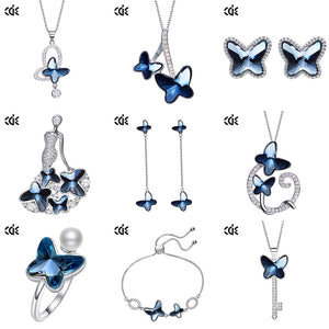 blue butterfly jewelry