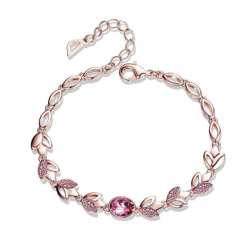 rose gold chain bracelet womens