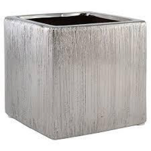 Silver Brushed Cube