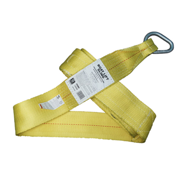 "4"" x 16' Poly Boat Lift Strap  YELLOW"