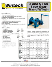 Wintech HM-24 5 Ton Handheld Winch